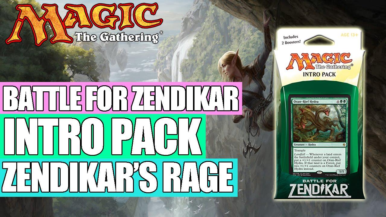 Magic The Gathering Battle For Zendikar Zendikar's Rage Theme Deck MTG Intro