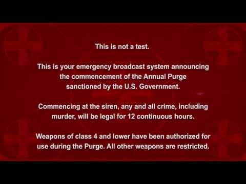 The Purge - Election Year Announcement HD [Spoiler Warning]