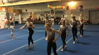 Girls North Atlantic Gymnastics meet 12/1/18