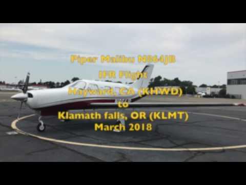 Piper Malibu IFR flight with ATC Audio