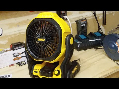 DeWalt 20v Jobsite Fan Unboxing And Testing…LIVE !!