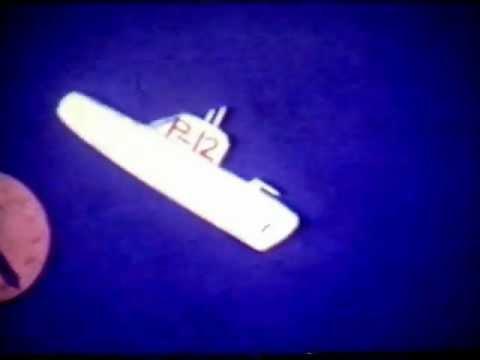 The Yellow Submarine - made circa 1973 using paper cutouts