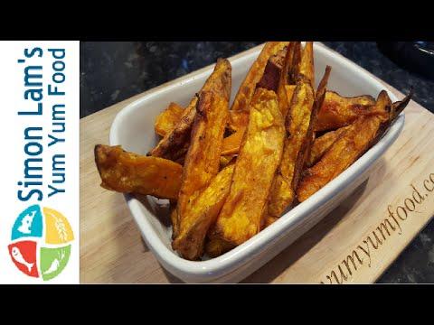 How To Make Crispy Sweet Potato Wedges   Simon Lam's Yum Yum Food