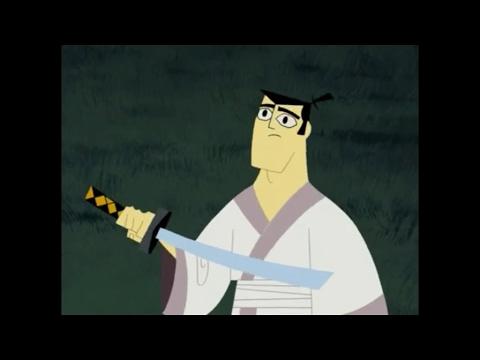 Samurai Jack S4Ep9-Jack vs incompetent bounty hunters