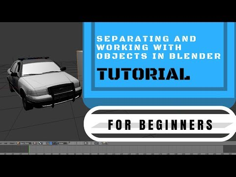Separating And Working With Objects In Blender 2.79