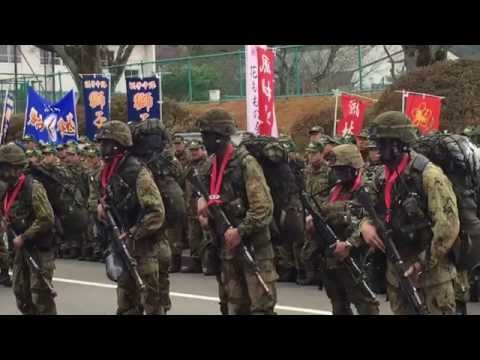 福島駐屯地第36期レンジャー帰還式