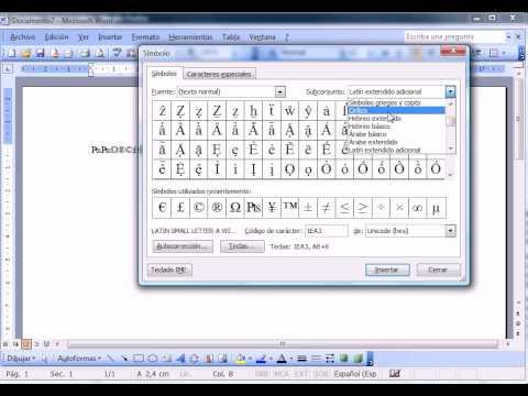 Word 2003 Básico Insertar Simbolos Wwwofimaticaparatorpescom