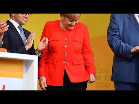 Merkel booed, pelted with tomato on campaign trail in eastern Germany