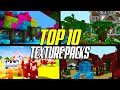 Top 10 Minecraft Texture Packs 1.15 (Resource Packs)