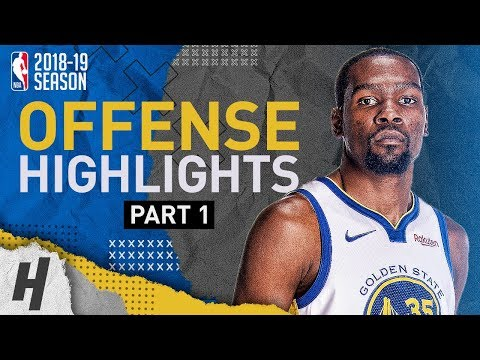 Kevin Durant BEST Offense Highlights from 2018-19 NBA Season! PURE SCORER (Part 1)