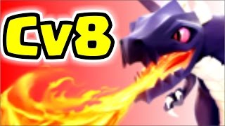 Ataque com dragao cv8 guerra 3 estrelas atualizado clash of clans