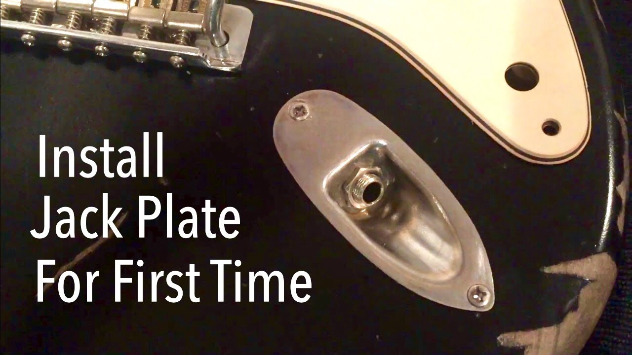 how to install strat output jack for the first time youtube fender strat input jack wiring [ 1280 x 720 Pixel ]
