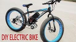 DIY Electric Bike 40km/h Using 350W Reducer Brushless Motor