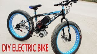 DIY Electric Bike 40kmh Using 350W Reducer Brushless Motor