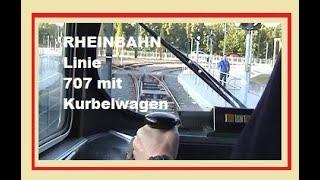 RHEINBAHN Linie 707 mit Kurbelwagen