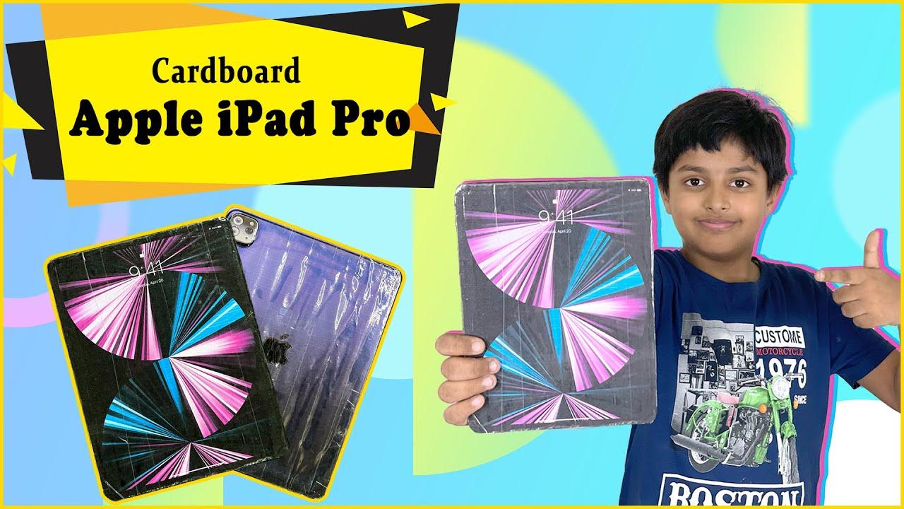 How to make Apple iPad Pro with Cardboard | DIY Cardboard iPad | Easy DIY Apple Craft Ideas