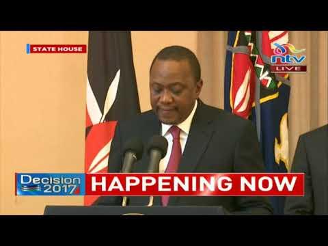 Uhuru Kenyatta: I won with a huge margin on August 8th