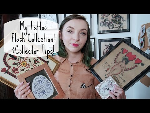 My Tattoo Flash Collection and collection tips!