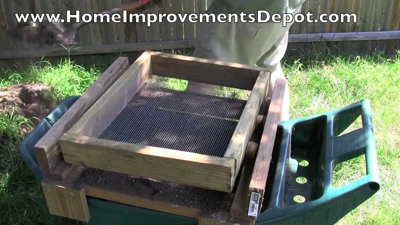Build your own dirt and soil sifter cheap and easy doovi for Cheap topsoil