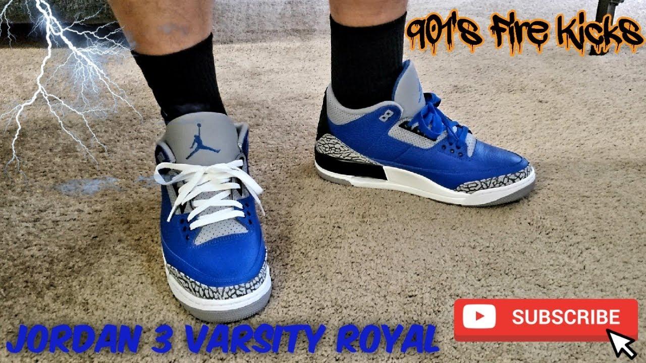 royal blue jordan 3s