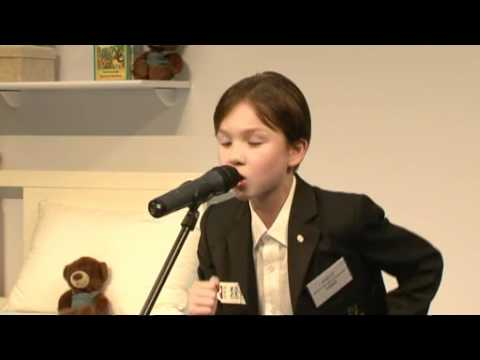 Bedtime English Story Telling Contest 2010 (K1 - First Runner Up) - Wong Wan Kei from YouTube · Duration:  1 minutes 44 seconds