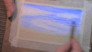 How to Draw a Simple Sky with Pastel Pencils