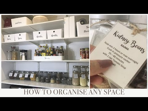 HOW TO ORGANIZE ANY SPACE | DIY LABELS thumbnail