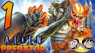 Alien Vs. Predator Arcade Game - PART 1 - Authentic Redneck Commentary - BroBrahs