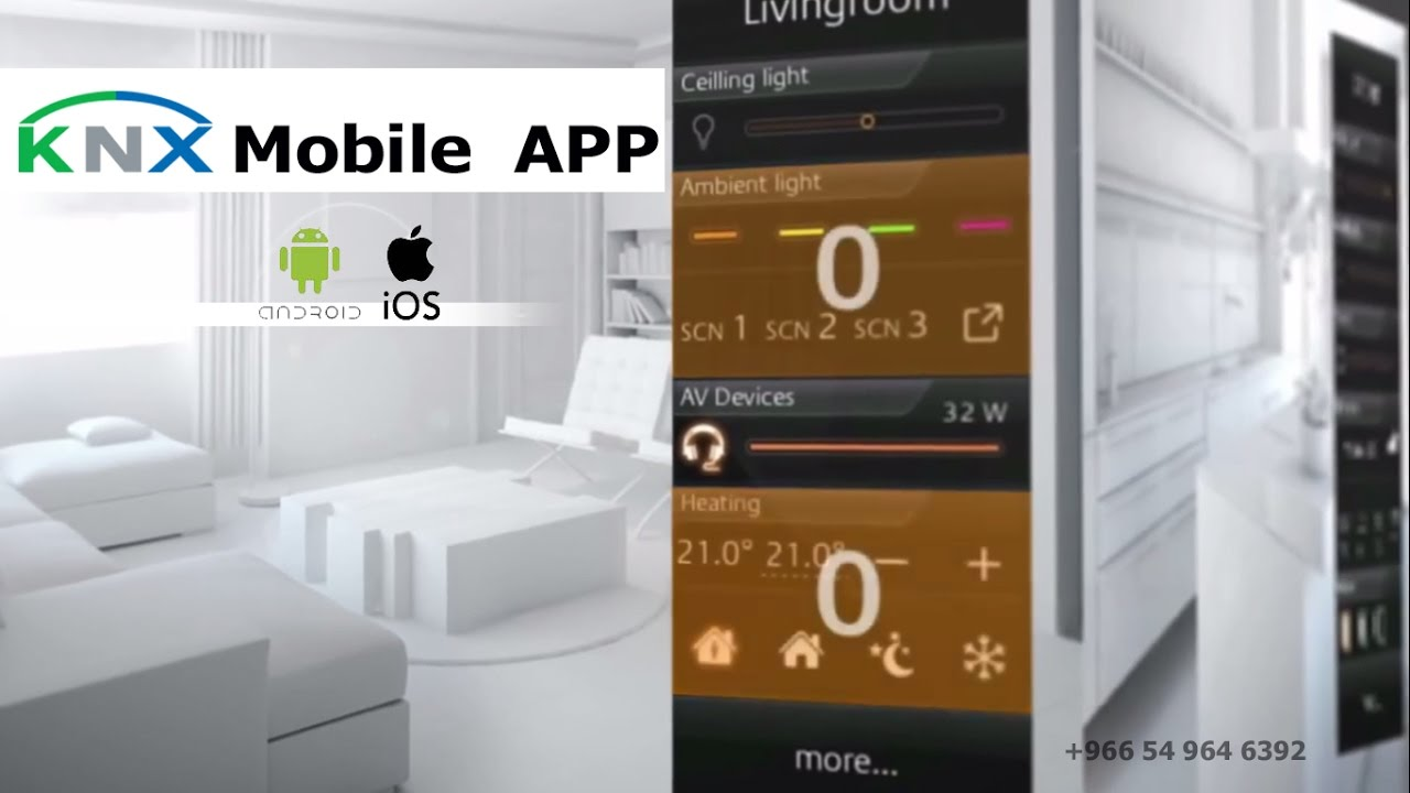 knx eib smart home application control your villa from your mobile youtube. Black Bedroom Furniture Sets. Home Design Ideas