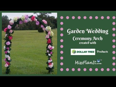 8ft Wedding Ceremony Garden Arch On a Budget | Dollar Tree DIY | DIY Tutorial