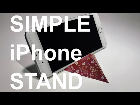[ORIGAMI DIY]How to make 3D Paper Stand (for iPhone and Tablet)