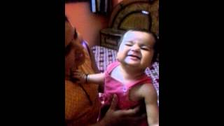 A 9 month baby sing song.....papa mere papa