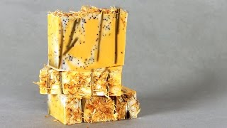 How to Make Natural Annatto & Yarrow Soap