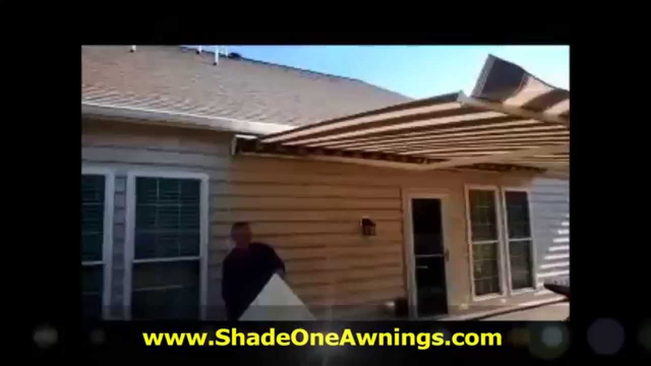 sunsetter side panel setup and takedown by shade one awnings
