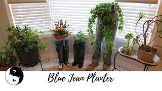 Blue Jean Planter | Birdz of a Feather ~ Craft Rehab