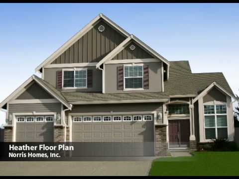 Norris Homes - Heather Floor Plan - YouTube