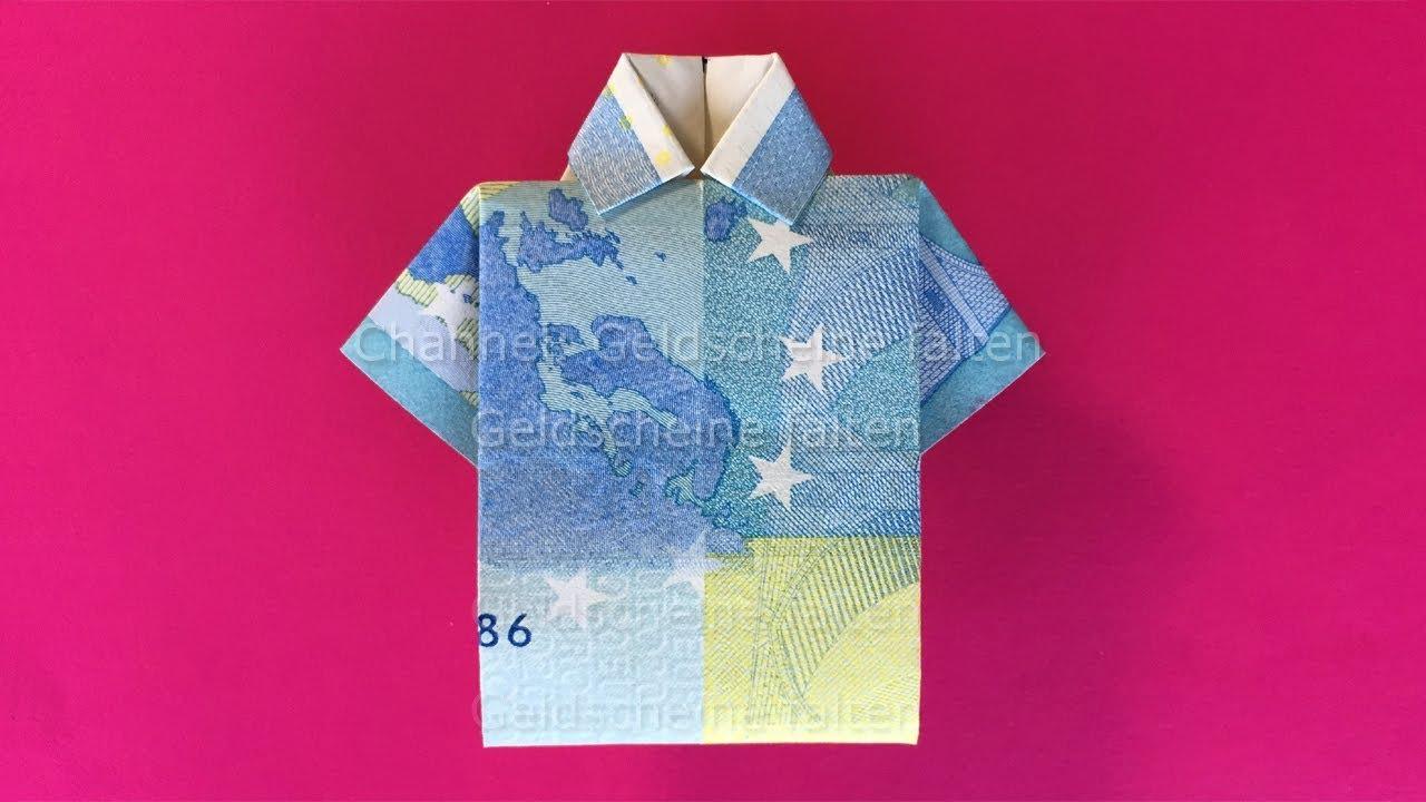 Geldscheine Falten Hemd Einfach Geld Falten Zur Hochzeit Youtube