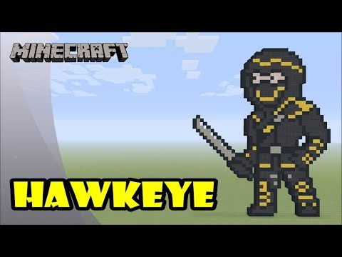 Minecraft: Pixel Art Tutorial and Showcase: Hawkeye as Ronin (Avengers: Endgame) thumbnail