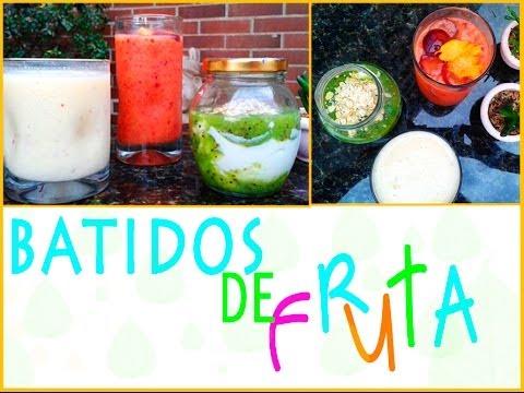 Batidos de frutas saludables y muy f ciles youtube - Batidos de frutas ...