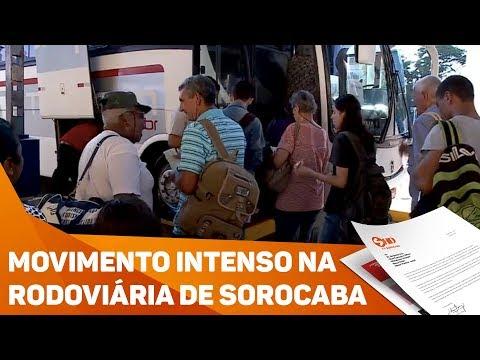 Movimento da rodoviária para o Carnaval - TV SOROCABA/SBT