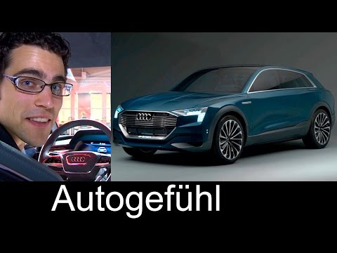 2018 Audi Q6 e-tron PREVIEW as Audi e-tron quattro concept electric 500km range
