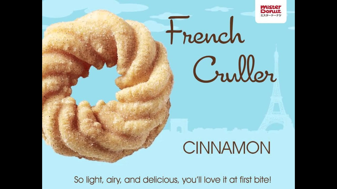 Mister Donut French Cruller - YouTube