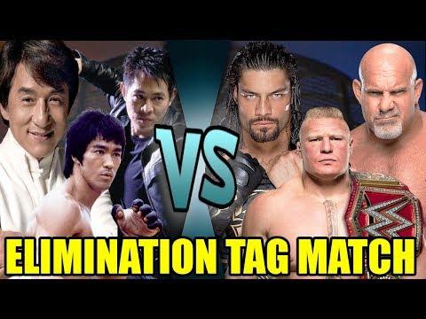 Bruce Lee, Jackie Chan & Jet Li vs Brock Lesnar, Goldberg & Roman Reigns (Elimination Tag)