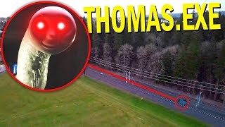 Drone Catches THOMAS THE TANK ENGINE.EXE At Haunted Railroad!! *SCARY THOMAS THE TRAIN*