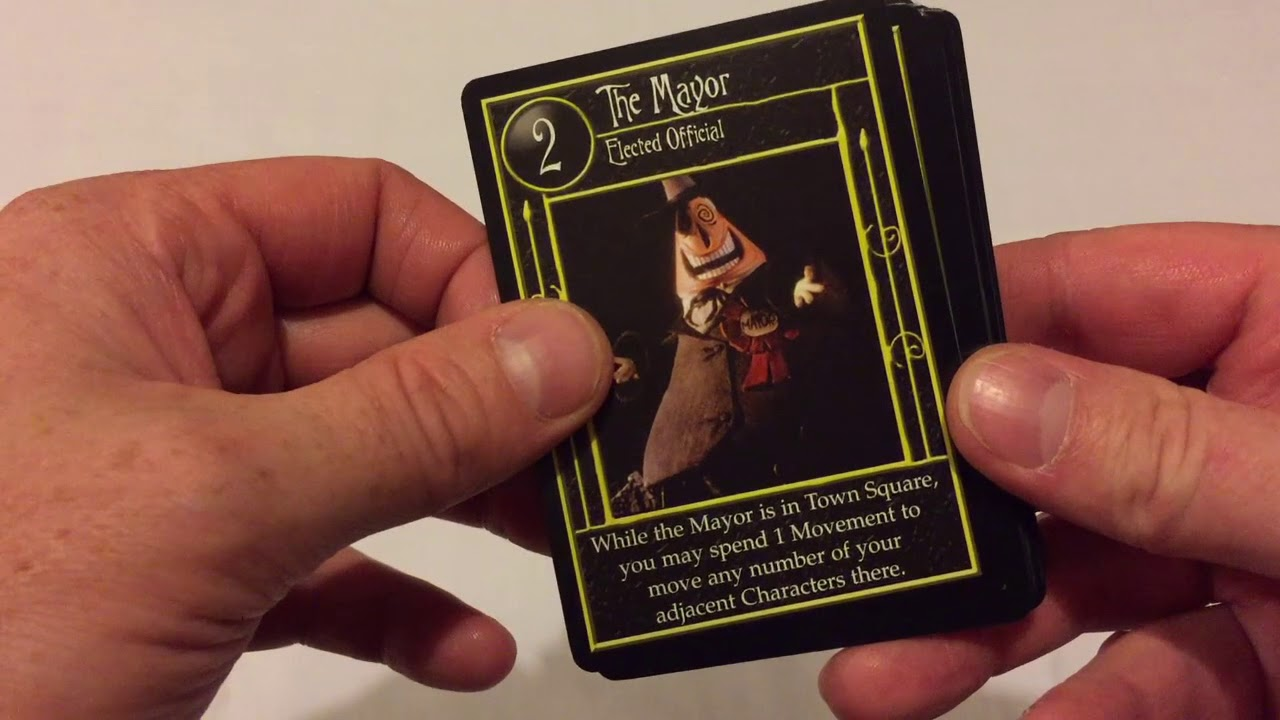 Tim Burton\'s Nightmare Before Christmas Trading Card Game - Unboxing ...