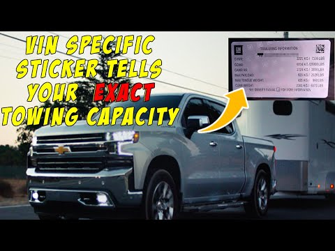 How To Know In 10 Seconds How Much YOUR 2019 Chevy Silverado Can Tow. Chevrolet Silverado 2019
