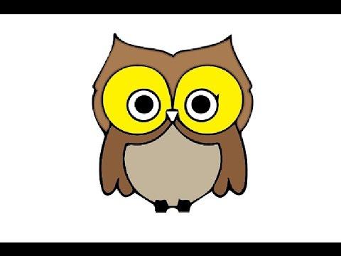 How to Draw a Cute Owl Easy step by step / Как нарисовать ...