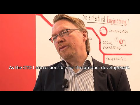 Marcus Schorn, CTO of PLATO AG, in the interview at the Control 2017