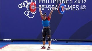 Elreen Ando Settles For Silver In Controversial Finish In Weightlifting | 2019 Sea Games