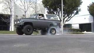Some SMOKEY burnouts by my truck
